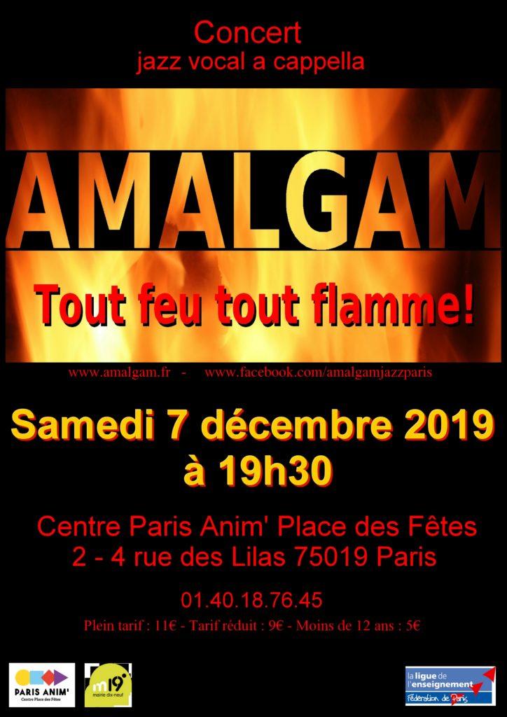 Affiche du concert d'Amalgam du 7 décembre 2019